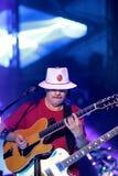 Carlos Santana durante il giro - giro 2016 di luminosità Fotografia Stock Libera da Diritti