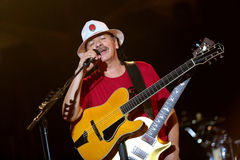 Carlos Santana en el viaje - viaje 2016 de la luminosidad Imagenes de archivo