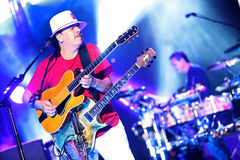 Carlos Santana en tournée - visite 2016 de luminosité photos libres de droits