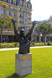 Carlos Santana monument in Montreux, Switzerland Royalty Free Stock Photography
