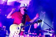Carlos Santana na excursão - excursão 2016 da luminosidade Foto de Stock