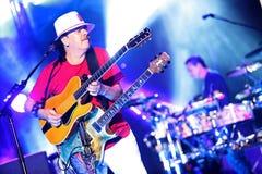 Carlos Santana na excursão - excursão 2016 da luminosidade Fotos de Stock Royalty Free