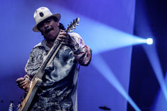 Carlos Santana. Performs at Java Jazz Festival 2011 on March 5, 2011 in Jakarta, Indonesia Stock Photo