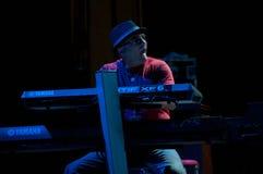 Carlos Santana's band: David K. Mathews Stock Photo
