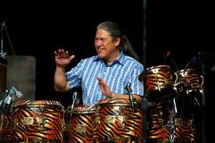 Carlos Santana's band: Raul Rekow Stock Images