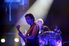 Carlos Santana on Tour - Luminosity Tour 2016. Benny Rietveld bassist on Carlos Santana Live show in Gondomar, Portugal - July 26, 2016 royalty free stock photos