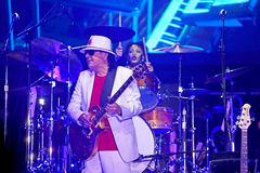 Carlos Santana on Tour - Luminosity Tour 2016. Carlos Santana Live show in Gondomar, Portugal - July 26, 2016 Royalty Free Stock Images