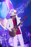 Carlos Santana on Tour - Luminosity Tour 2016. Carlos Santana Live show in Gondomar, Portugal - July 26, 2016 stock photography