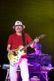 Carlos Santana on Tour - Luminosity Tour 2016. Carlos Santana on Live show in Gondomar, Portugal - July 26, 2016 Royalty Free Stock Photo