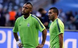 Carlos Tévez und Arturo Vidal Juvntus Turin Lizenzfreie Stockfotos