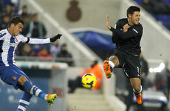 Carlos Vela(R) of Real Sociedad Royalty Free Stock Images