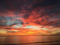 Carlsbad Beach - Carlsbad, CA. Amazing October sunset at Carlsbad State Beach - Carlsbad, California Stock Images
