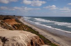 Beachside Cliffs of San Diego Stock Photos