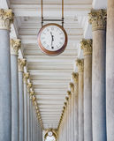 Carlsbad Mill Colonnade collums Royalty Free Stock Photography