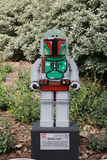 CARLSBAD, US, FEB 6: Star Wars Boba Fett Minifigure made with le Royalty Free Stock Photography