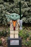 CARLSBAD, US, FEB 6: Star Wars Yoda Minifigure made with lego br Stock Image