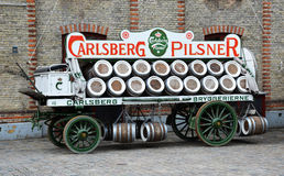 Carlsberg Beer Advertising Wagon Stock Images