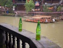 Carlsberg Chill Beer Bottles Royalty Free Stock Images