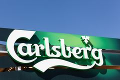 Carlsberg logo on a wall Royalty Free Stock Images