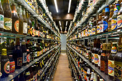 Carlsberg museum beer collection Royalty Free Stock Images