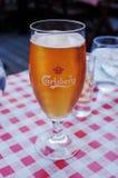 Carlsberg piwo & aquavit w restauracji obrazy royalty free