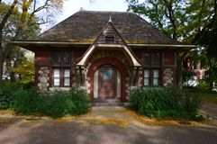 Carlson Cottage. This is a picture of the Carlson Cottage at the Lincoln Park Zoo in Chicago, Illinois.  The cottage served as a comfort station, men's and Royalty Free Stock Photography