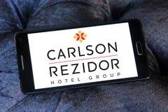 Carlson rezidor hotel group logo. Logo of carlson rezidor hotel group on samsung mobile phone Royalty Free Stock Photo