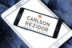 Carlson rezidor hotel group logo. Logo of carlson rezidor hotel group on samsung mobile phone on samsung tablet Royalty Free Stock Photos