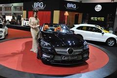 Carlsson Gestemd Mercedes SLK R172 bij een Show van de Motor Stock Fotografie