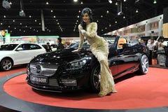 Carlsson ha sintonizzato Mercedes SLK R172 ad un salone dell'automobile Fotografie Stock Libere da Diritti