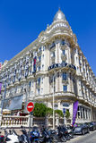 Carlton Cannes Hotel intercontinental em Cannes Imagem de Stock Royalty Free