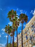 Carlton cannes. Picture of the outside of carlton hotel in Cannes Royalty Free Stock Photo