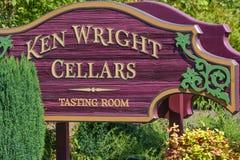 Carlton City In Yamhill County-Weinanbaugebiet stockfotos