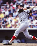 Carlton Fisk, Boston Red Sox. Former Boston Red Sox and Hall of Fame catcher Carlton Fisk.  (image taken from color slide Stock Image