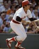 Carlton Fisk, les Red Sox de Boston Photographie stock libre de droits