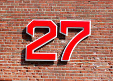 Carlton Fisk Retired Number Royalty Free Stock Images