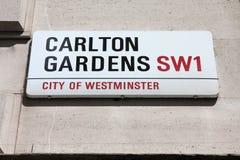 Carlton Gardens, London Royalty Free Stock Photography