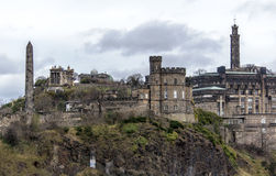 Carlton Hill. In Edinburgh, Scotland Stock Photo