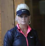Carly Booth at golf Evian Masters 2012 Royalty Free Stock Photos
