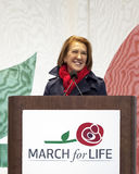 Carly Fiorina Speaking chez mars pendant la vie images libres de droits