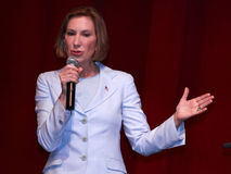 Carly Fiorina speaking at Iowa State University, Ames, Iowa, on August 27,2015 Royalty Free Stock Photography