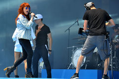 Carly Rae Jepson. Rehearses for her Canada Day performance on Parliament Hill. June 30, 2013 in Ottawa Royalty Free Stock Image