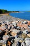 Carlyle湖海滩伊利诺伊 免版税库存照片