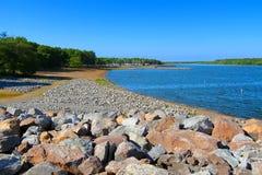 Carlyle湖游泳海滩伊利诺伊 免版税库存图片