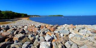 Carlyle湖游泳海滩伊利诺伊 免版税库存照片