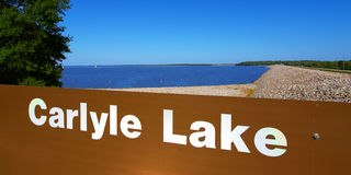 Carlyle湖风景伊利诺伊 免版税库存照片