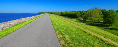 Carlyle Lake Bike Path Illinois Stock Photography
