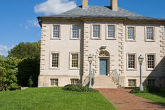 Carlyle Mansion Virginia. Front facade of the historic Carlyle Mansion in Alexandria, Virginia. 18th-century Palladian architectural designed Royalty Free Stock Image