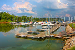 Carlyle West Access Marina Illinois Royalty-vrije Stock Foto's
