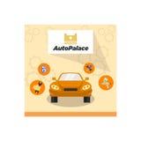 Carmaintenance Logo Template Photographie stock